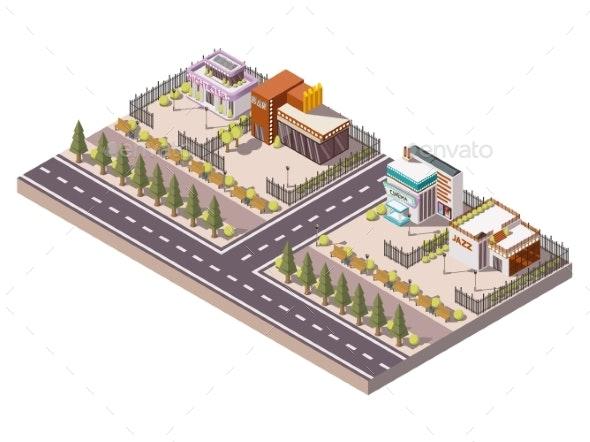 Entertainment Places Composition - Buildings Objects