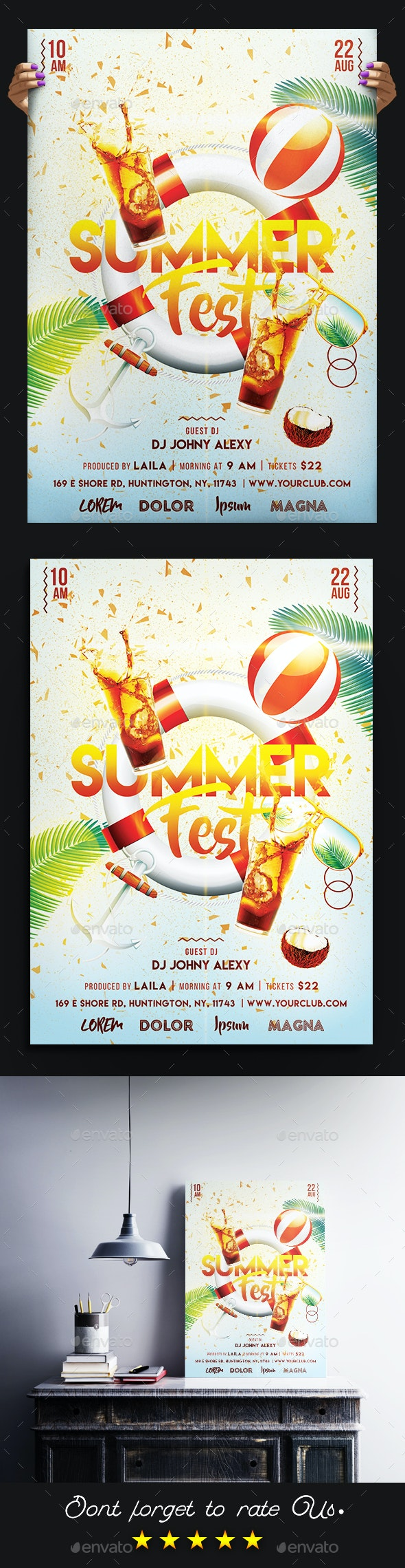 Summer Fest Party Flyer - Clubs & Parties Events