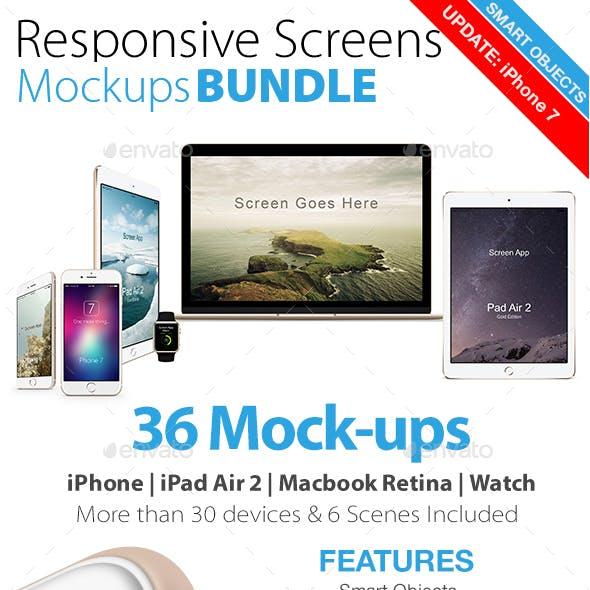 Responsive Screens Mockups Bundle