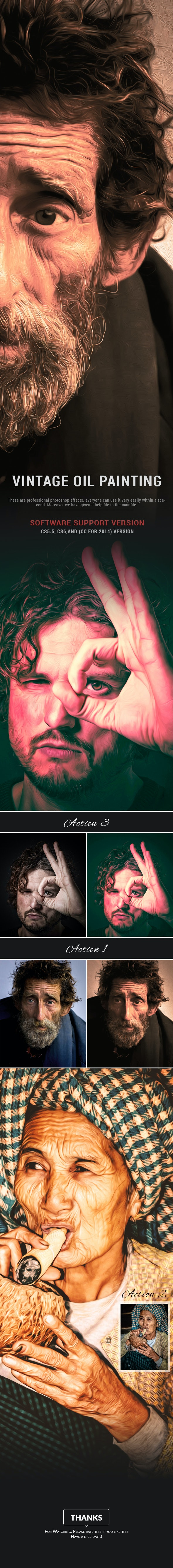 Vintage Oil Painting - Photo Effects Actions