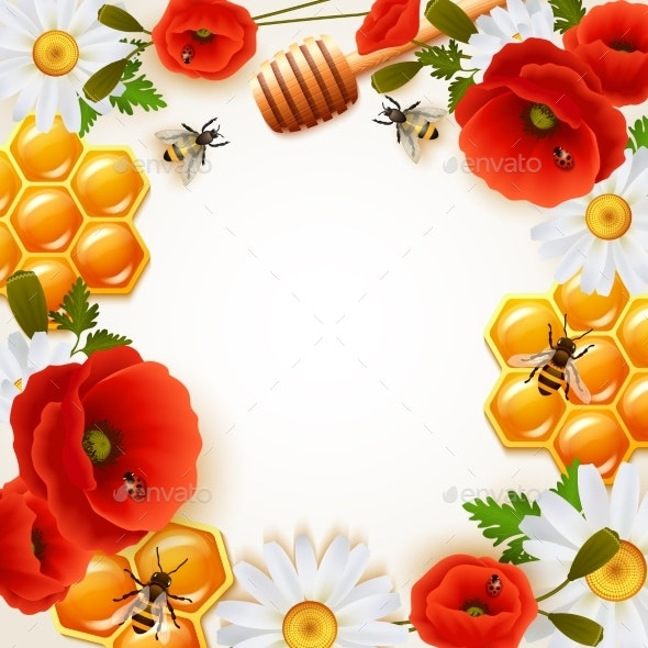 Honey Colored Background - Food Objects