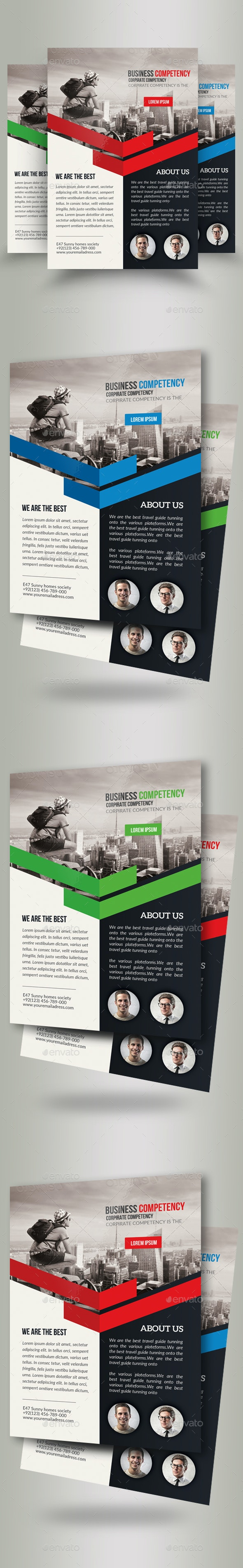 Business Travelling Agency Flyer Template - Corporate Flyers