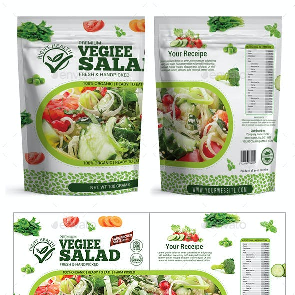 Salad Packaging Templates