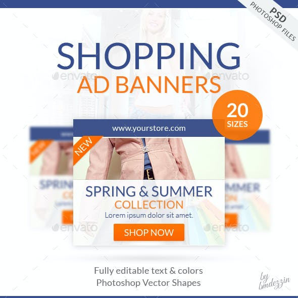 Shopping Web Ad Banners