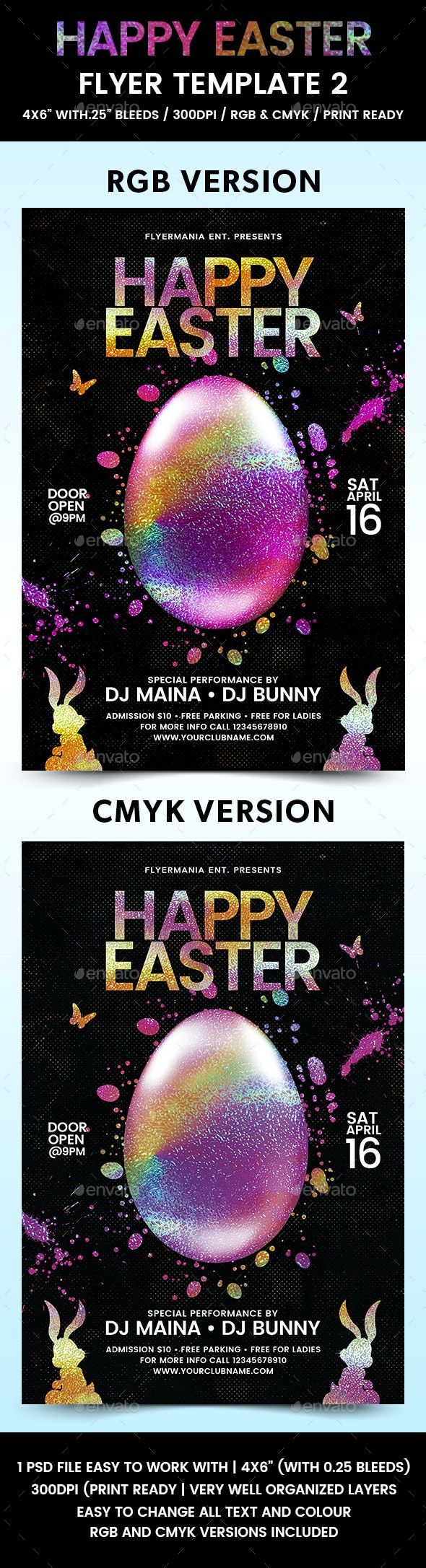 Happy Easter Flyer Template 2 - Flyers Print Templates