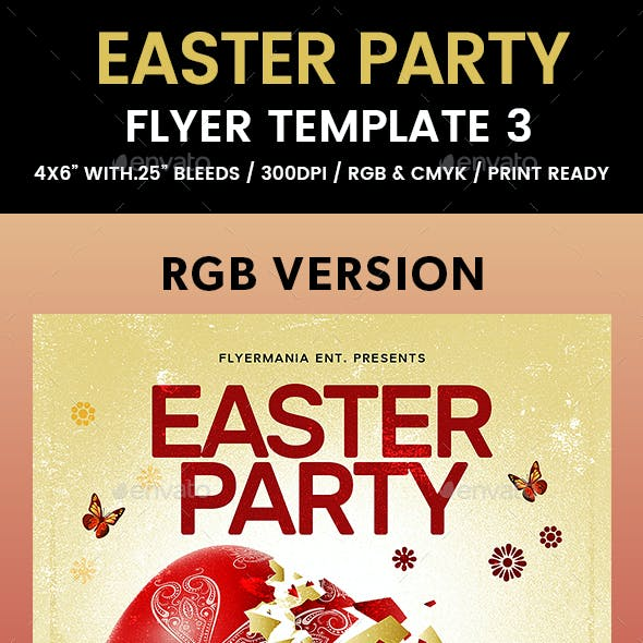 Easter Party Flyer Template 3