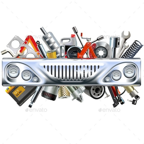 Front Car Part with Car Spares - Industries Business