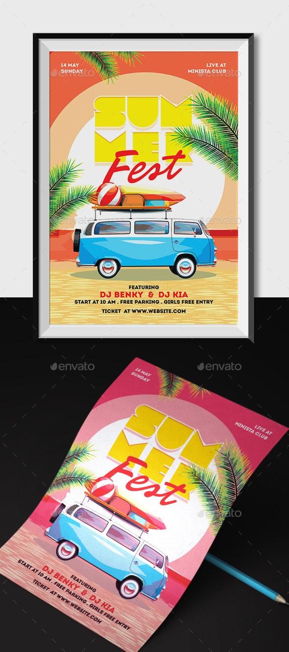 Summer Fest Flyer - Holidays Events