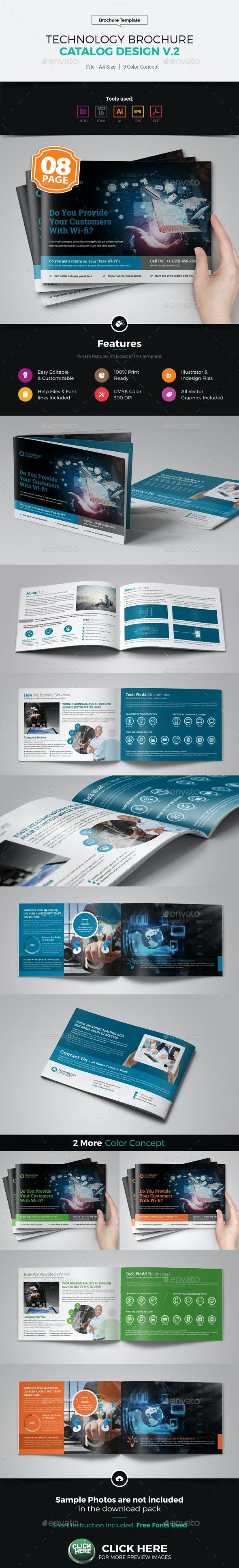 Technology Brochure Catalog Template v2 - Corporate Brochures