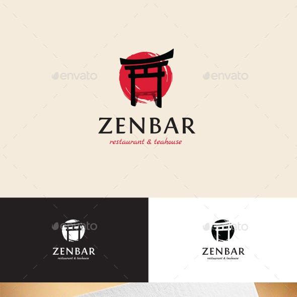 ZenBar Asian Restaurant & Teahouse Logo Template