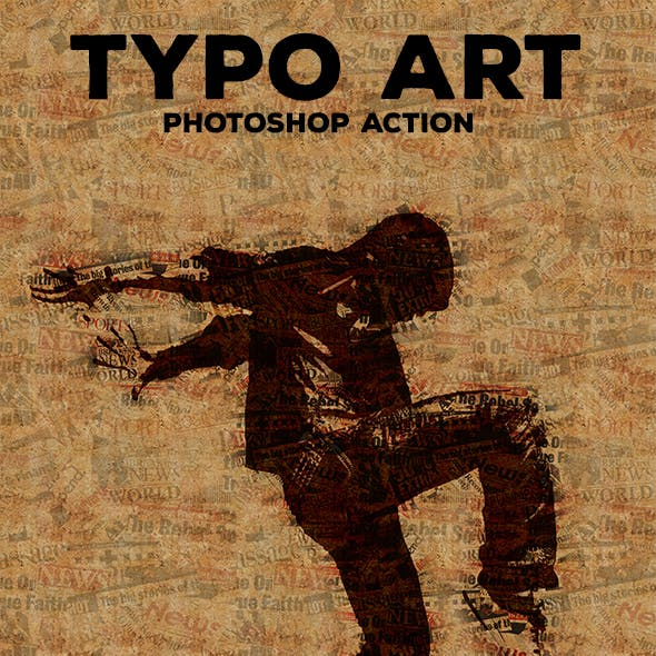 Typo Art - Photoshop Action