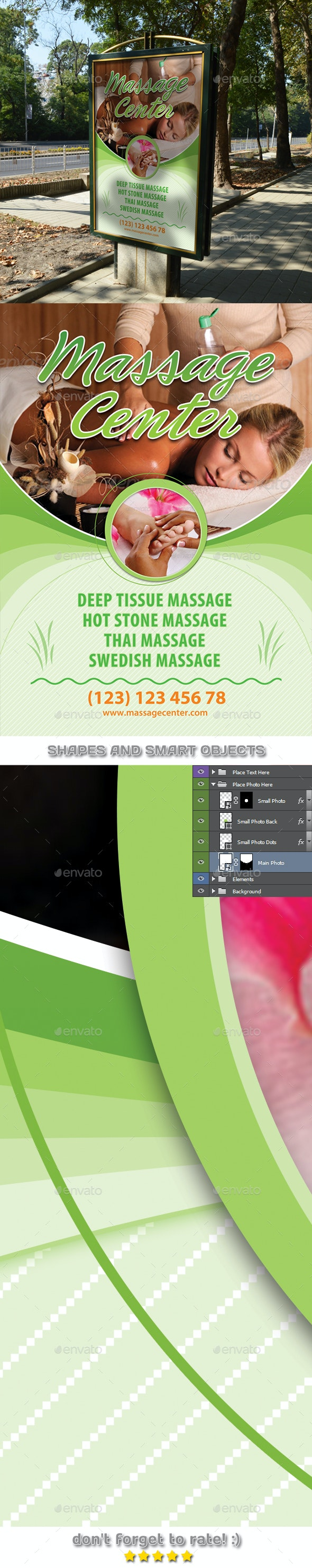 Massage and Spa Center Poster Template 54 - Signage Print Templates