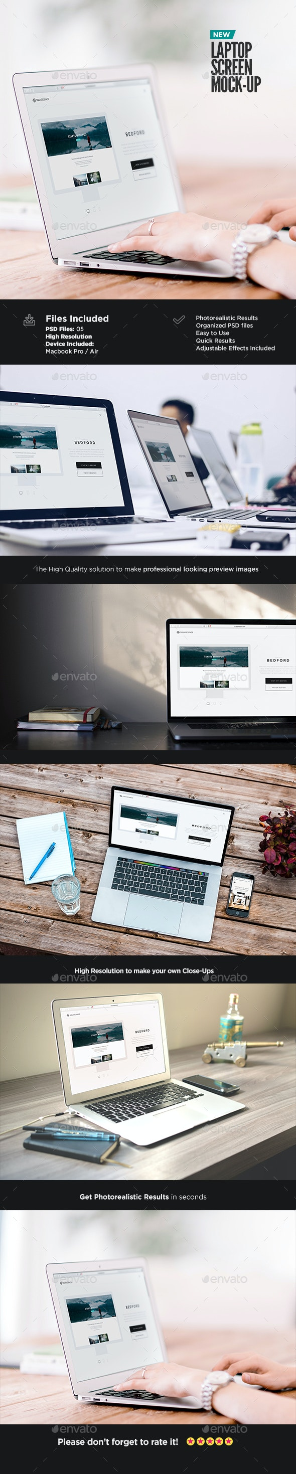 Laptop Screen Mock-up - Laptop Displays