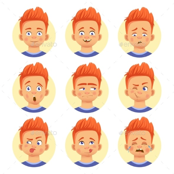 Different Human Emotions - People Characters