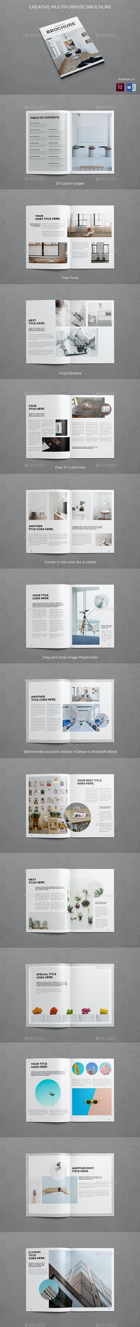 Creative Multipurpose Brochure - Brochures Print Templates