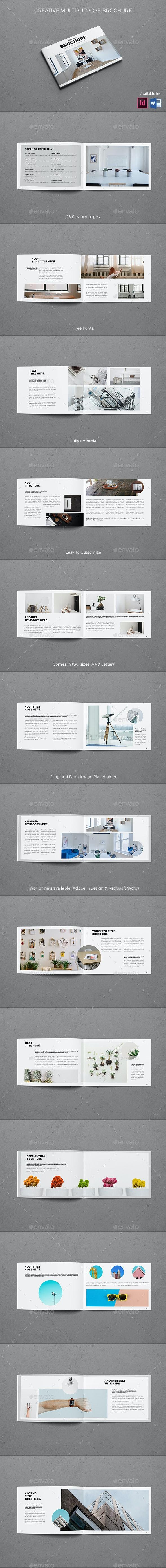 Landscape Creative Multipurpose Brochure - Brochures Print Templates