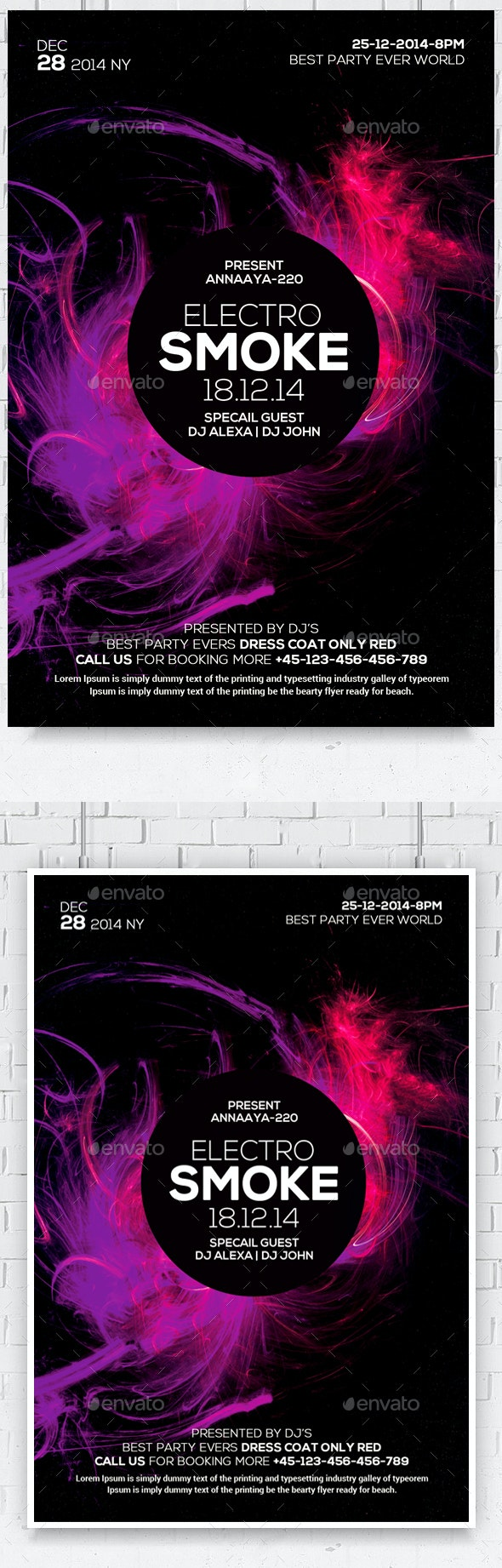 Color Smoke Flyer/Poster - Corporate Flyers