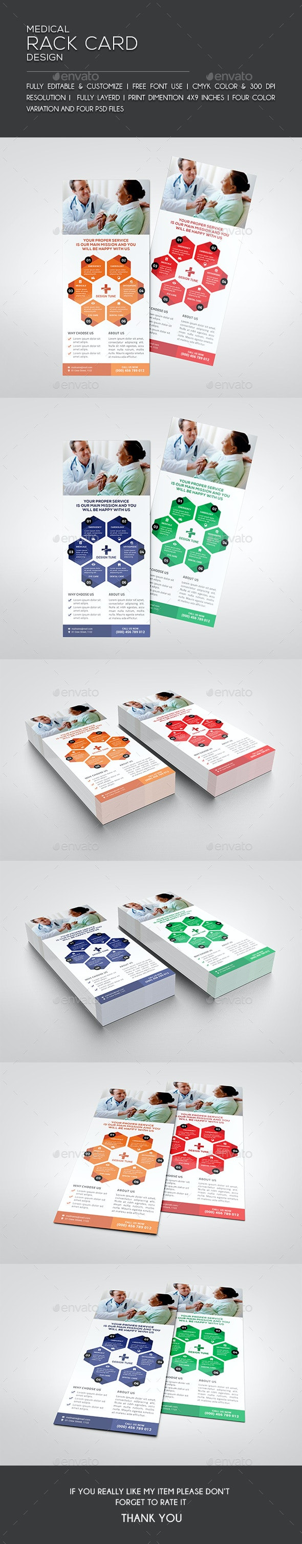 Medical Rack Card - Flyers Print Templates
