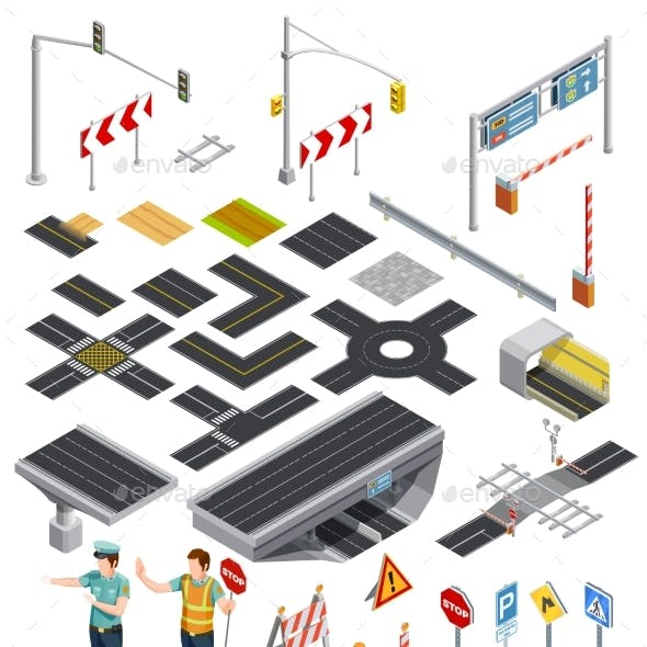 Isometric Elements of Road Sections