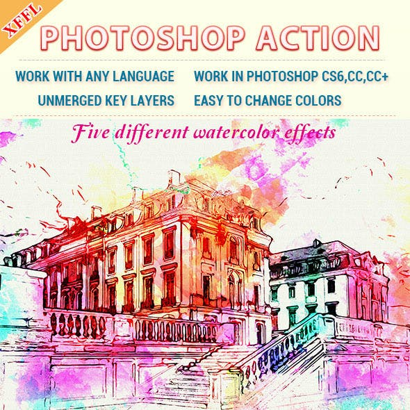 Watercolor Art V2 Photoshop Action