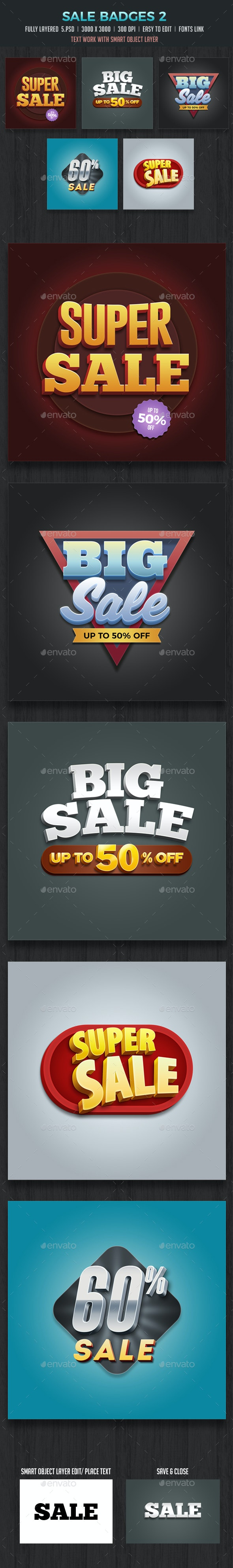 Sale Badges 3D Vol2 - Badges & Stickers Web Elements