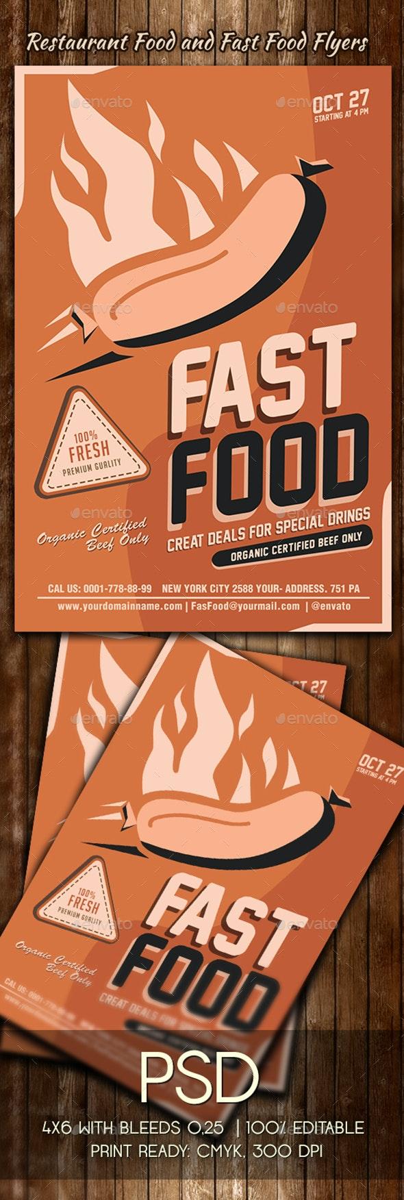 Fast Food Flyer Template - Restaurant Flyers
