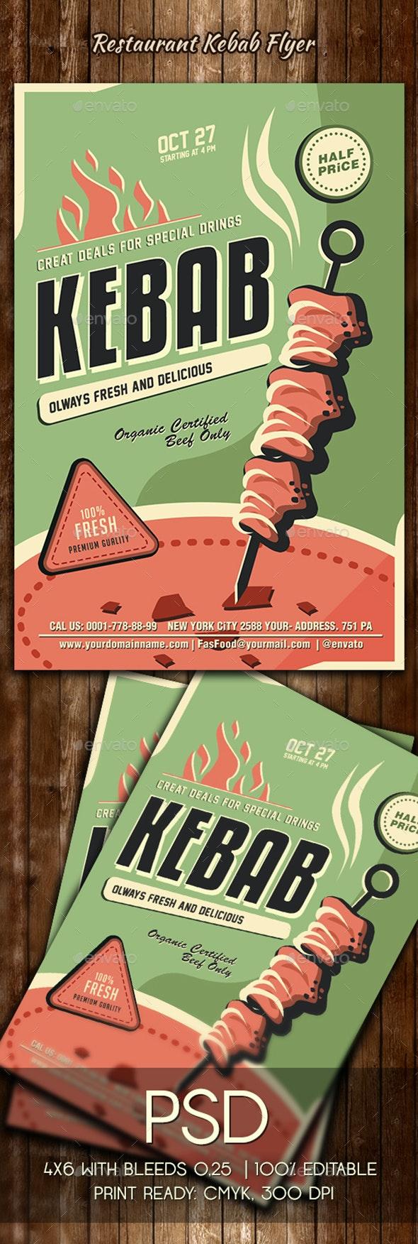 Kebab Flyer Template - Restaurant Flyers