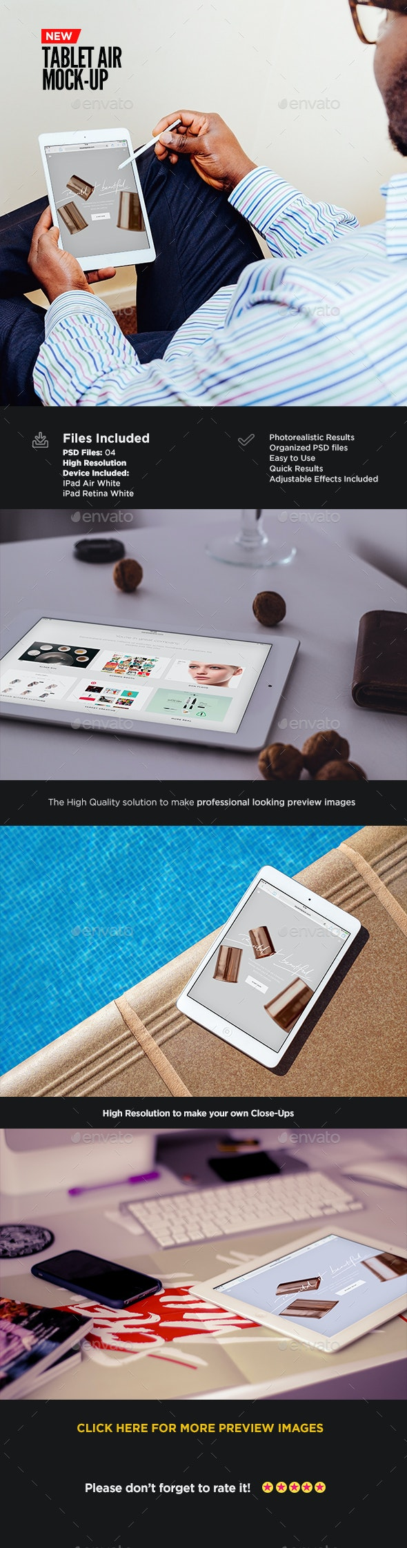 Tablet Screen Mock-Up   App Showcase Edition - Mobile Displays