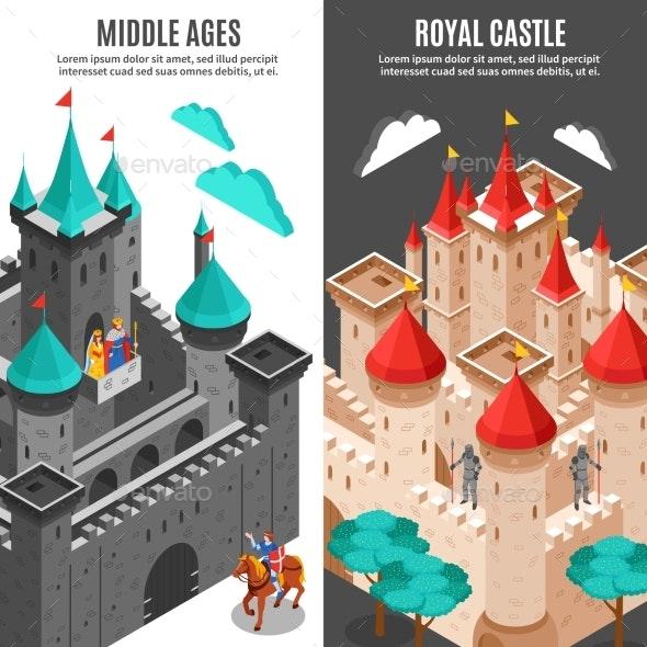 Royal Castle Vertical Banner Set - Buildings Objects