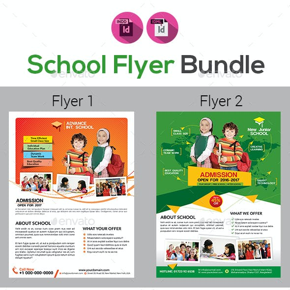 School Flyers Templates Bundle