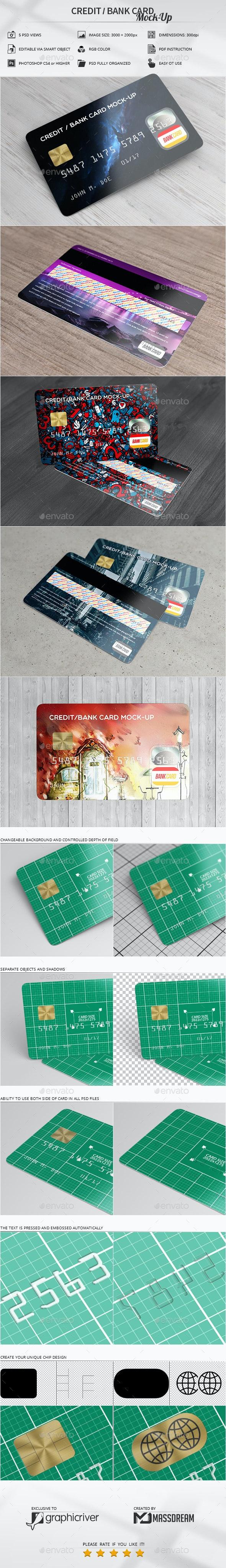 Credit / Bank Card Mock-Up - Print Product Mock-Ups