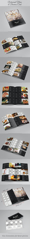 Restaurant Menu & Business Card - Food Menus Print Templates