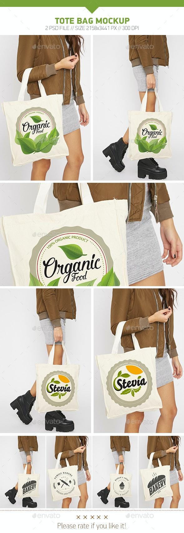 Tote Bag Mockup - Product Mock-Ups Graphics