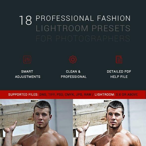 18 Professional Fashion Lightroom Presets