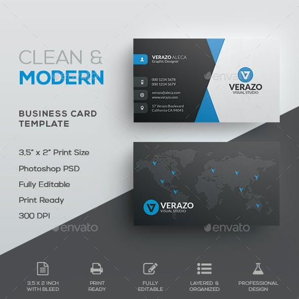 Clean & Modern Corporate Business Card Template