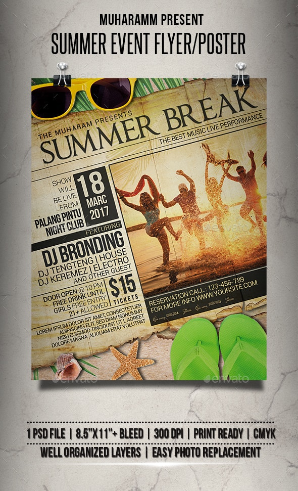 Summer Event Flyer / Poster - Events Flyers