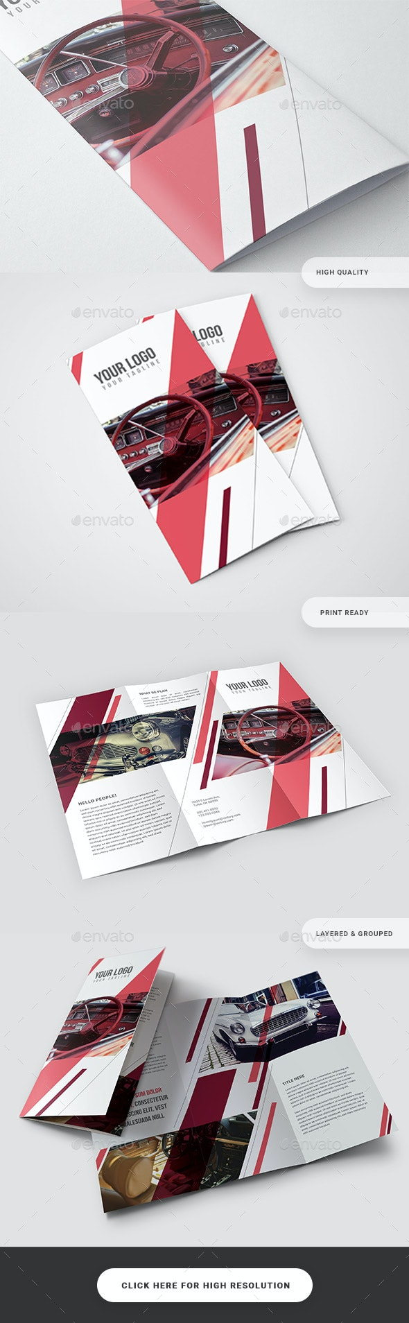 Pattern Trifold Brochure - Catalogs Brochures