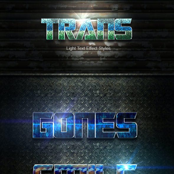 Trans Text Effect V10
