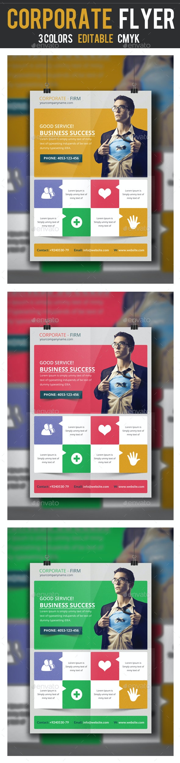 Business Consultants Flyer Template - Corporate Flyers
