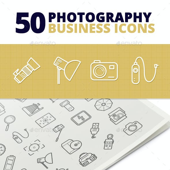 50 Photography Business Icons