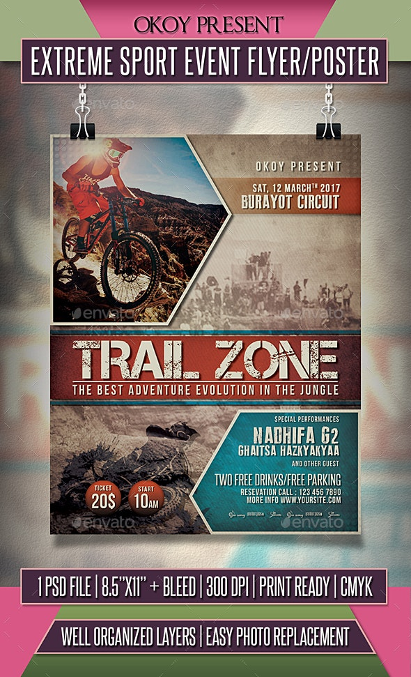 Extreme Sport Event Flyer / Poster - Events Flyers