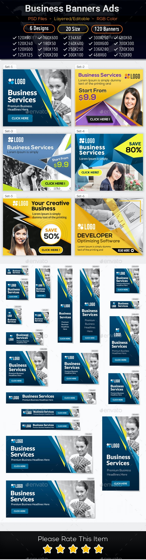 Business Banners Ads 01 - Banners & Ads Web Elements