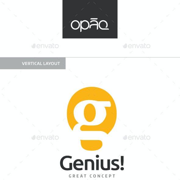 Genius G Letter Light Bulb Logo