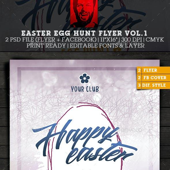 Easter Party Egg Hunt Flyer - Poster Vol.1
