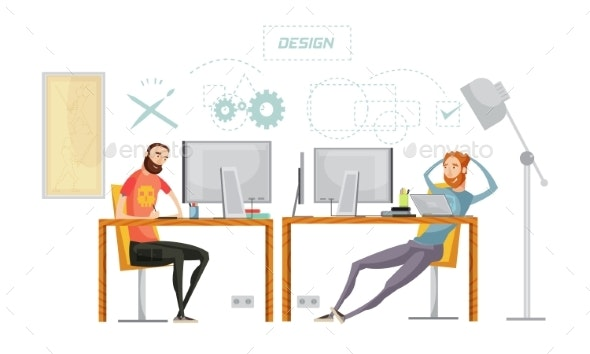 Game Design Office Composition - Buildings Objects