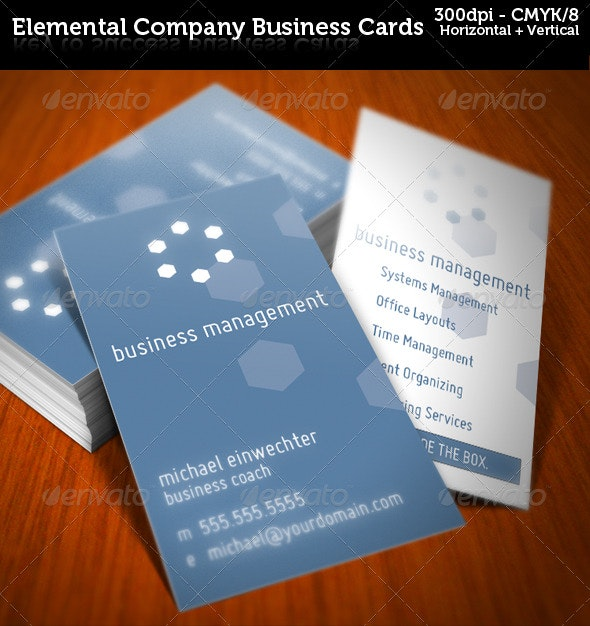 Elemental Company Business Cards - Corporate Business Cards