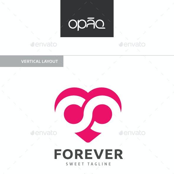Infinity Love Heart Logo
