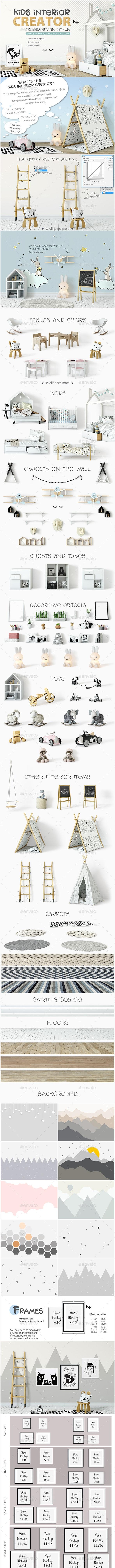KIDS Interior Creator - Print Product Mock-Ups