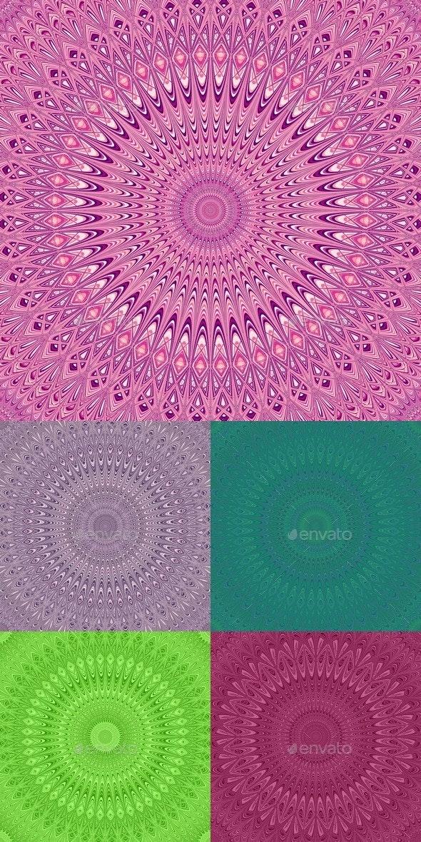 5 Mandala Backgrounds - Abstract Backgrounds