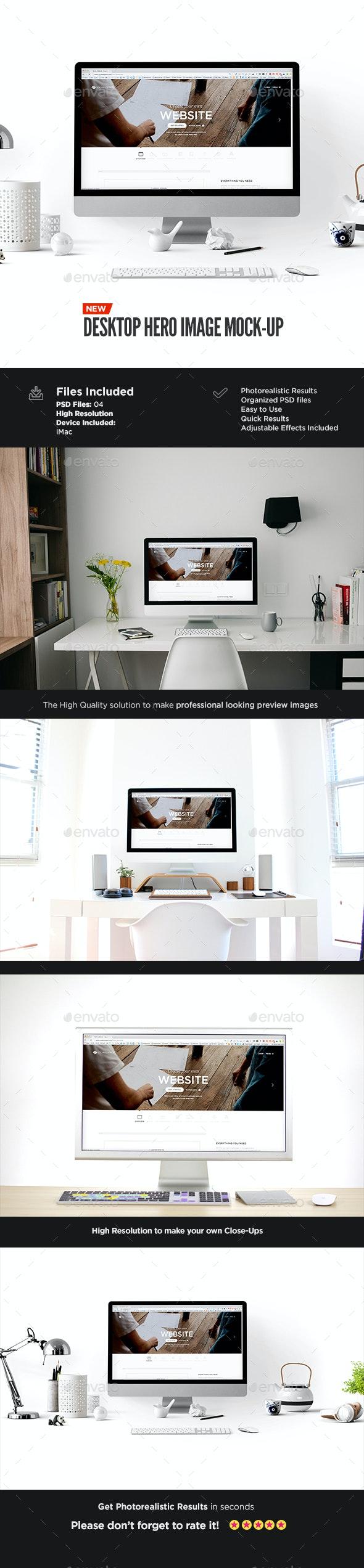 Desktop Display Mock-Up | Hero Image Edition - Displays Product Mock-Ups